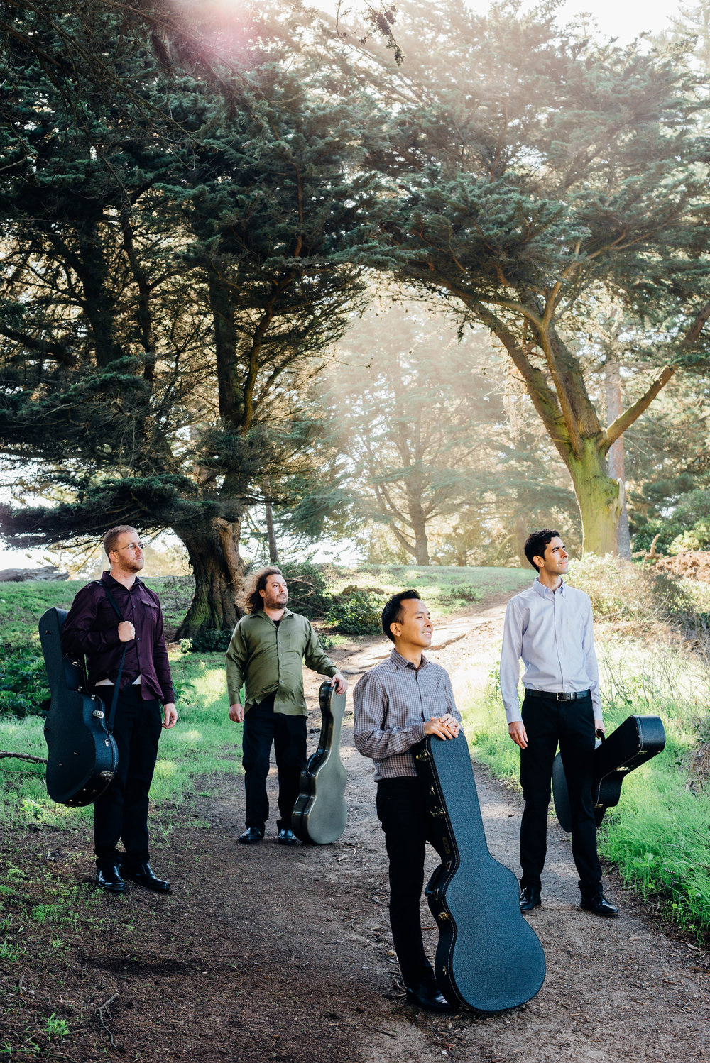 San Francisco Guitar Quartet 2016 promo photo.