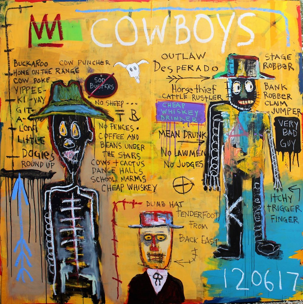 ms_Cowboys_  Mixed media on panel,   60_ x 60_.jpg