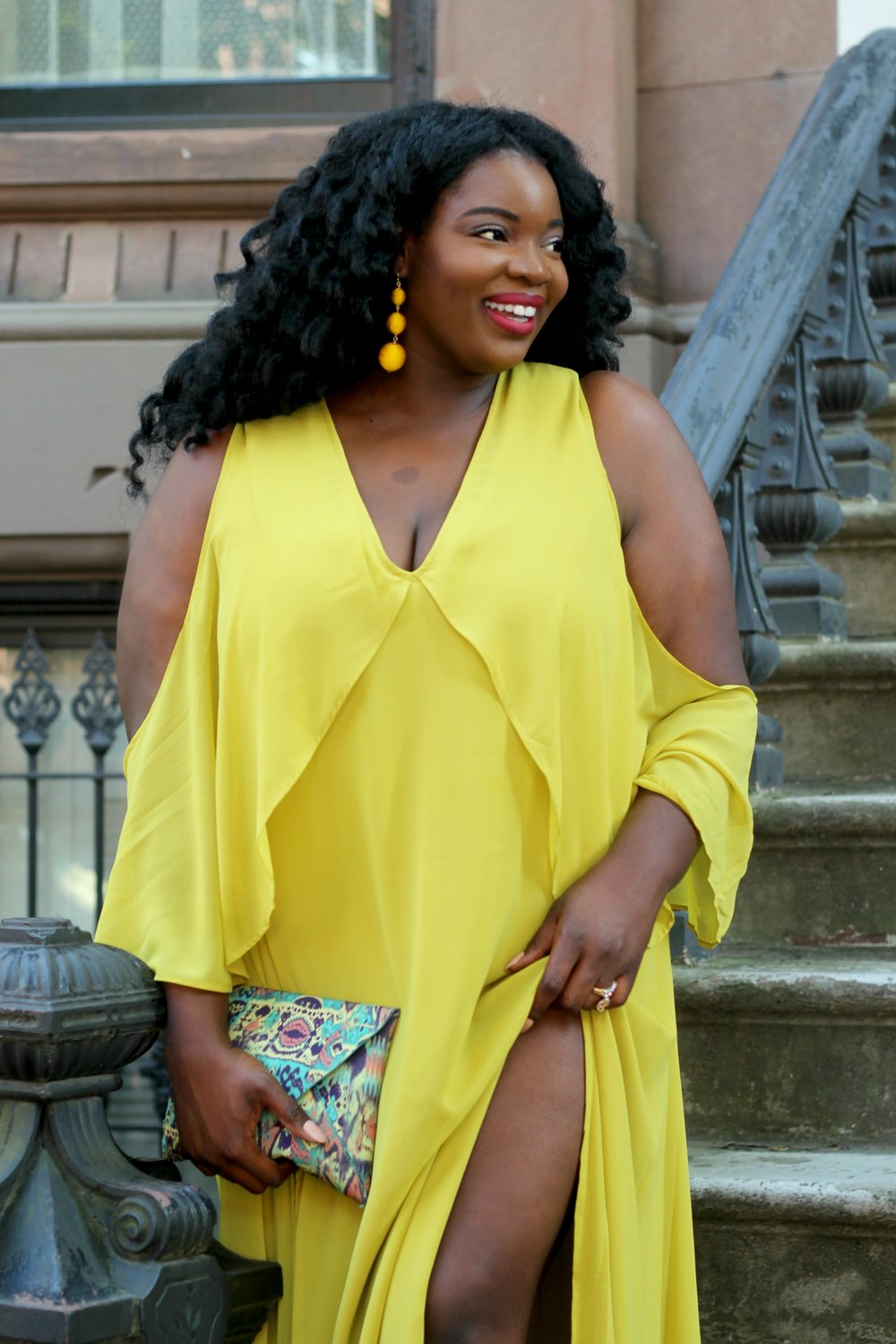 plus-size-asos-curve-cold-shoulder-slit-maxi-dress-yellow-1