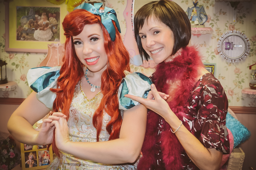 Jenna was asked to play The Sea Princess at a party by actual Disney princess Susan Egan (the original 'Belle' in on Broadway, and 'Megara' in Hercules).