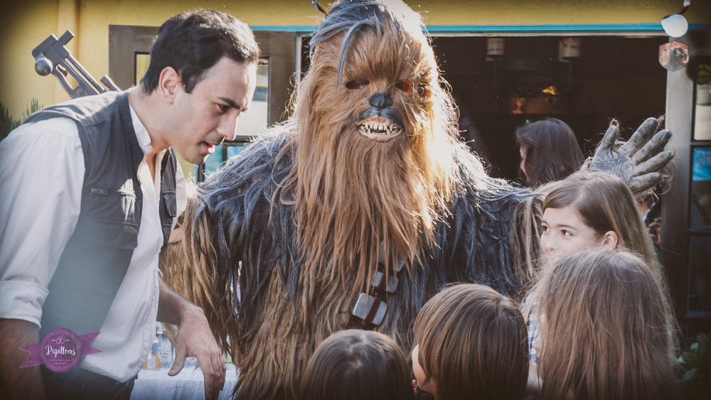 Invite a Chewbacca lookalike to your special event or birthday party; he makes a great duo with our Rey lookalike.