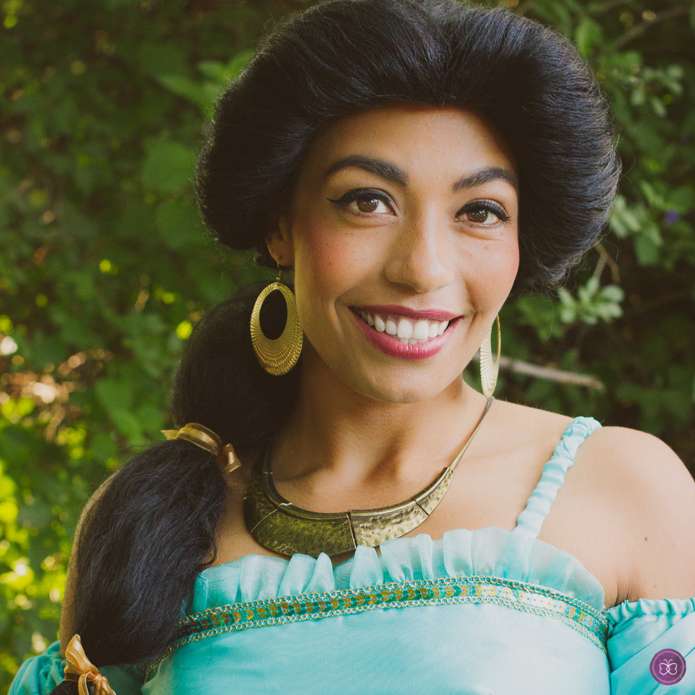 Princess Jasmine Aladdin party character Los Angeles
