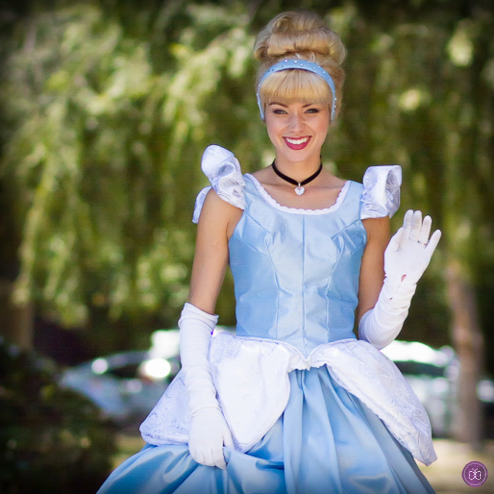 Cinderella princess party character Los Angeles
