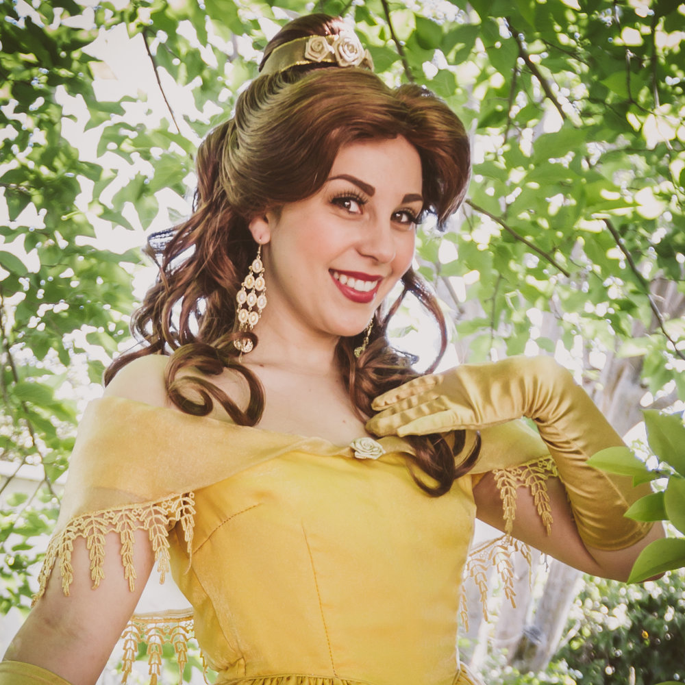 Princess Belle party character Los Angeles