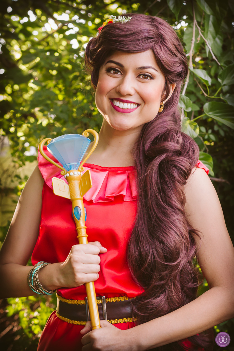 Inspired by Elena of Avalor, our princess character lookalikes sing + speak Spanish.
