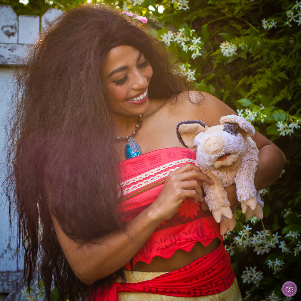 Moana birthday party character Los Angeles.