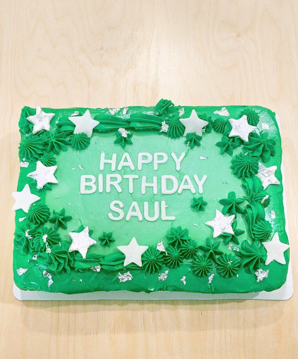 Green and silver stars cake.jpg