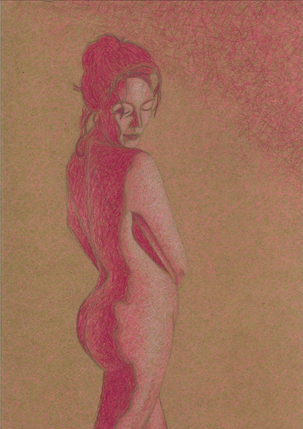Image: Sheena Hanrahan,  Demi Goddess , 2018, pencil on paper
