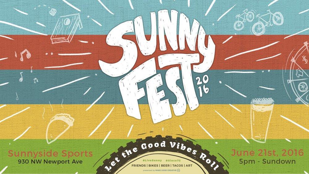 SunnyFest Image Designed by Brendan Loscar
