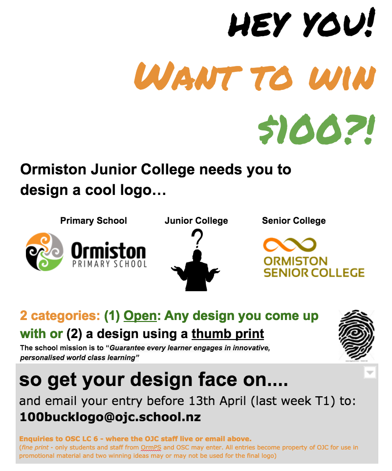 Advertisement for the OJC Logo Competition