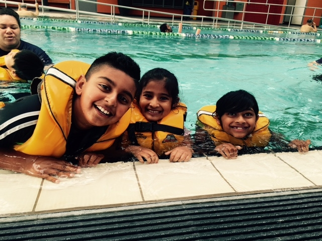 Smiley OrmPS Learners Loving the Pool!
