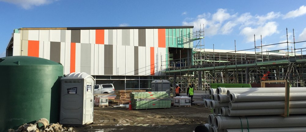 The first completed external wall gives a feel for what OJC will look like when she is done!