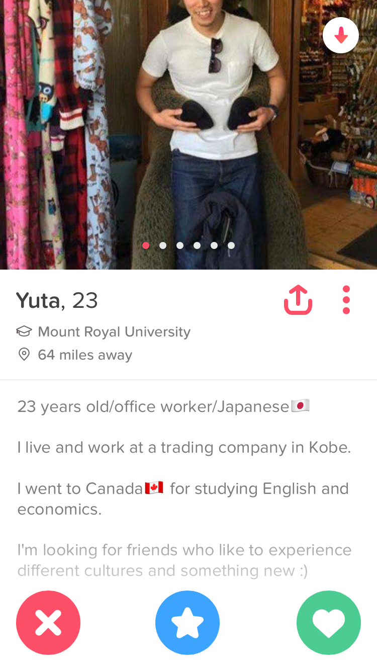 Tinder profile guy