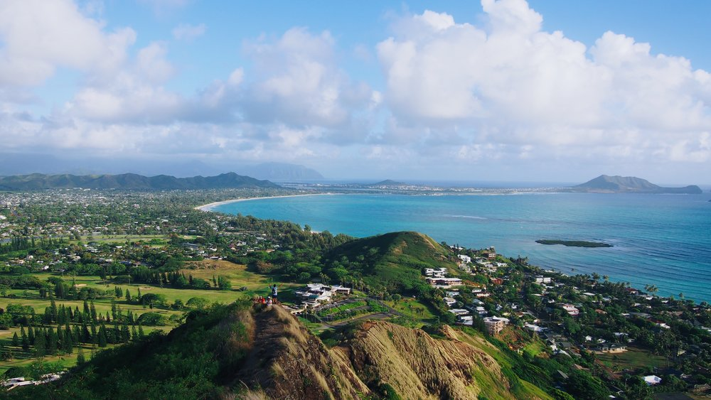 View of the widward side of Oahu from the Lanikai Pillboxes