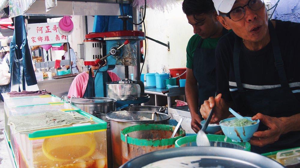 cendol street vendor in Penang, Malaysia