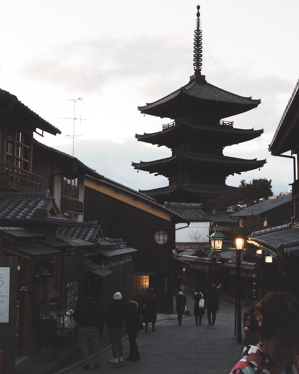 Yasaka Pagoda (hokanji) in Kyoto, Japan