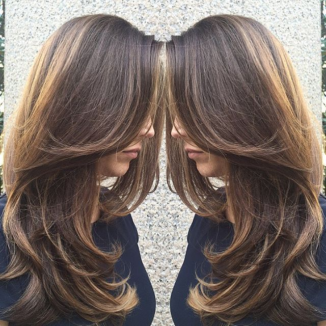 Love this cut and color! Cut by John Paul, color and style by Allison. @jpauldtown73 @allisonheuer  #gloriouslyglossy #oribe #brunettehair #brunette #longhair #seattlelife #downtownseattle #seattlehair #marcotwounionsquare #seattlesalon #balayage #balayagedandpainted #seattlebalayage #modernsalon #behindthechair #cosmoprofbeauty #haircut #haircolor #longhair #seattle