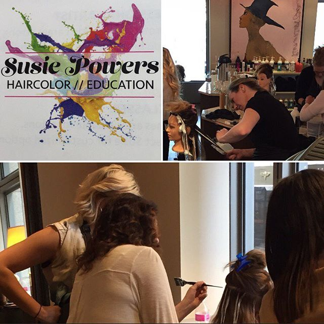 Thank you @powers625625 for an amazing balayage class! We can't wait for the next one.  #seattlesalon #seattlehair #seattlebalayage #balayage #hairpainting #marcotwounionsquare