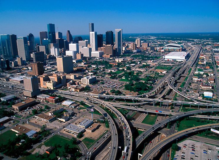 This is what the roads look like around Houston, and that traffic is really quite mild compared to the bumper-to-bumper stop & go I've been so lucky to enjoy the last 4 days.