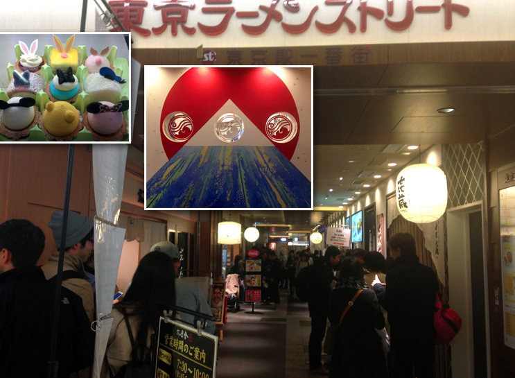 Cute desserts, Ramen Street and artwork. All normal things at a subway station, right?