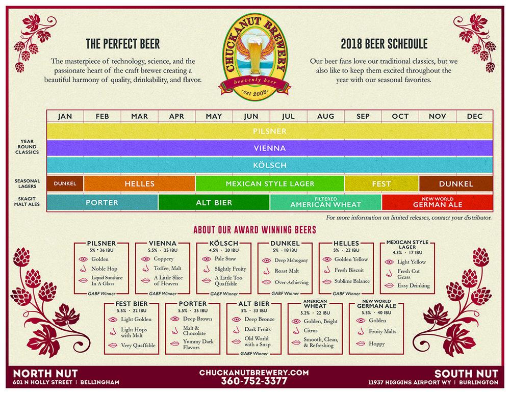 2018 Beer Schedule