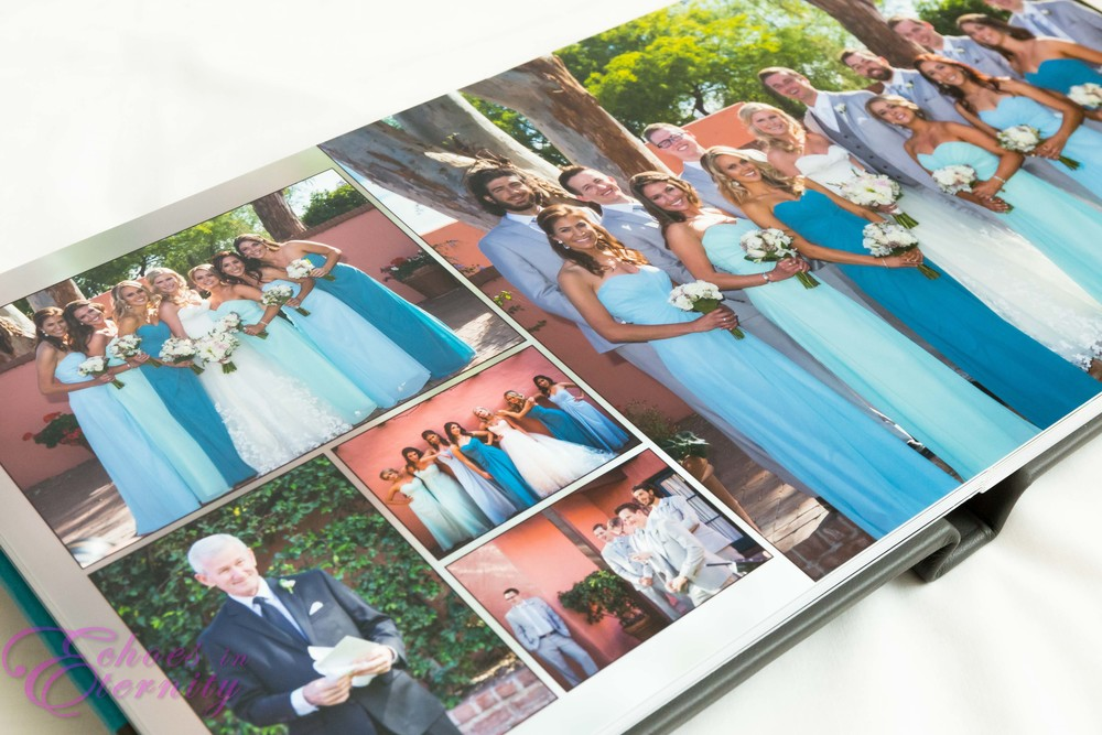 Tucson wedding photographer album seamless spread folded pano