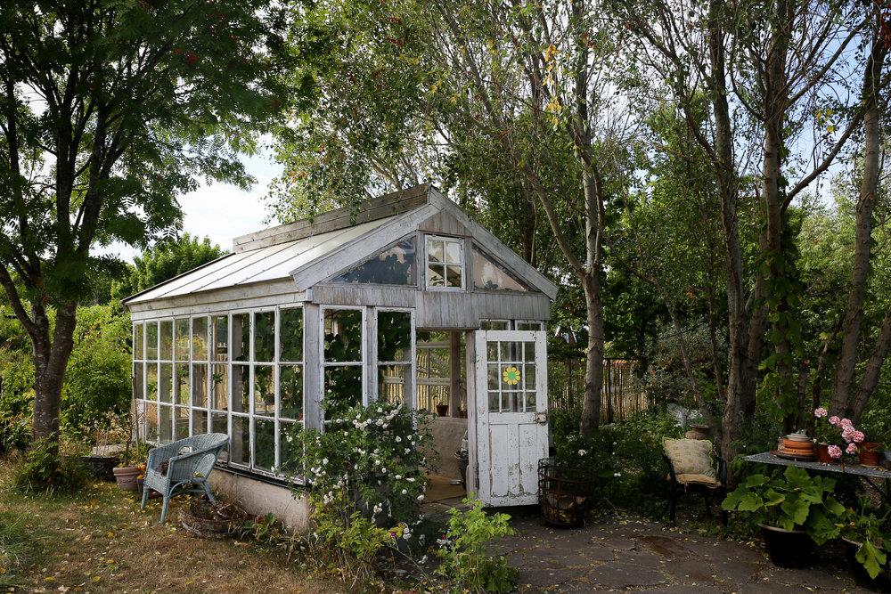 Greenhouse café at Mellby Klockargård; Stenshuvud beach; garden restaurant at Fridens Gårdskrog
