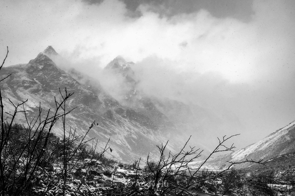 Mountains in clouds, Mt. Gongga Trek