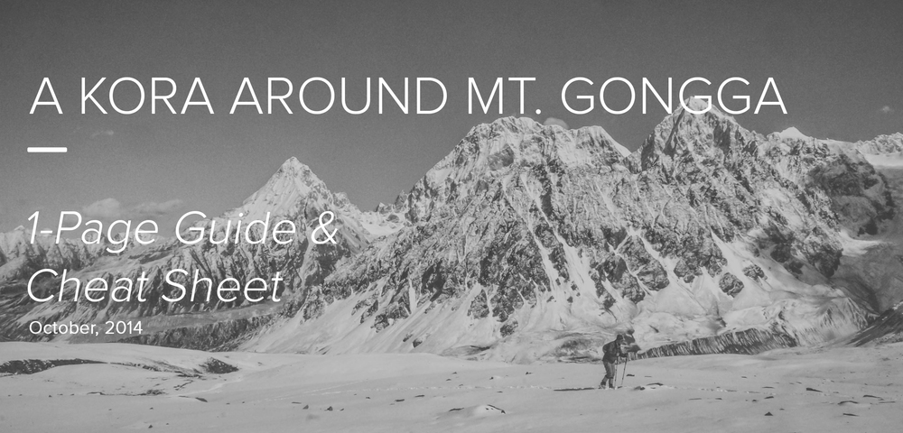 Mt. Gongga Trekking Guide and Cheat Sheet