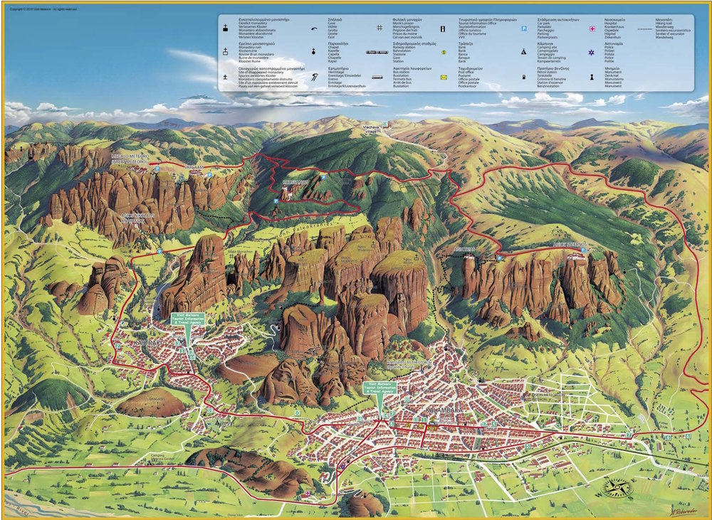 Map of Kalabaka and the monasteries of Meteora; from visitmeteora.travel
