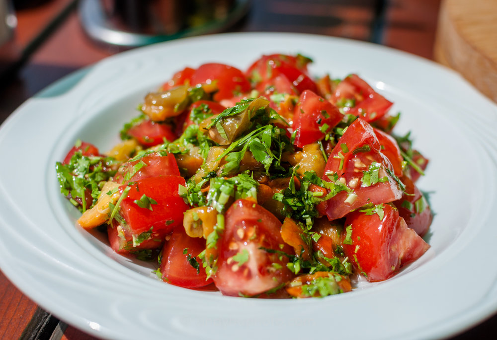 Salad Macedonian Style, refreshing and rich with flavor