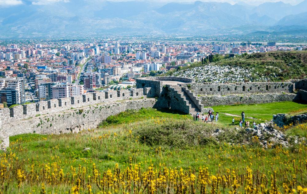 View of Shkodër from Rozafa Castle