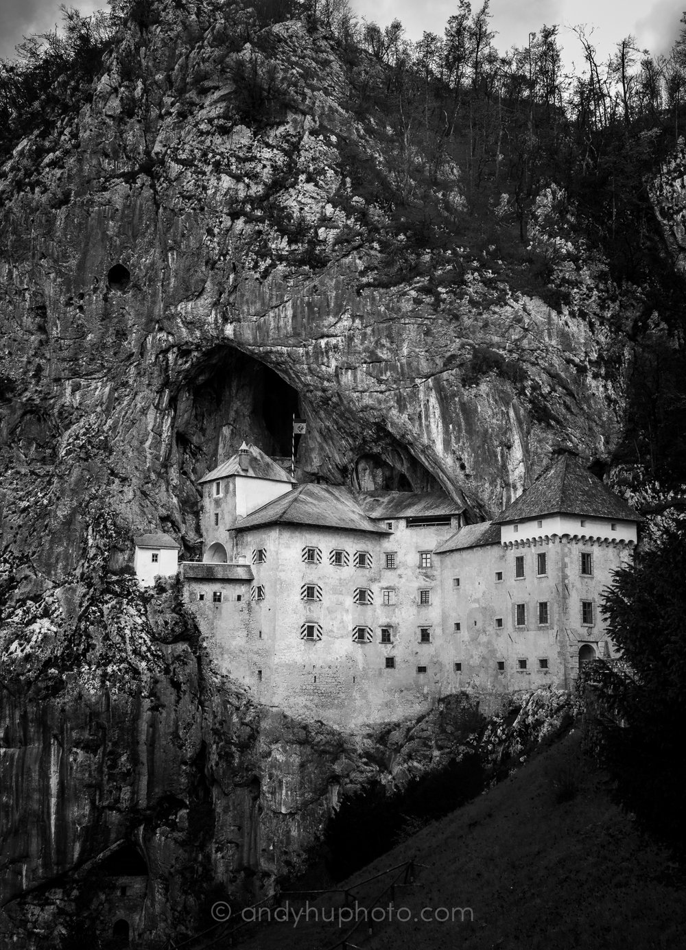 The nearly unbreachable Predjama Castle