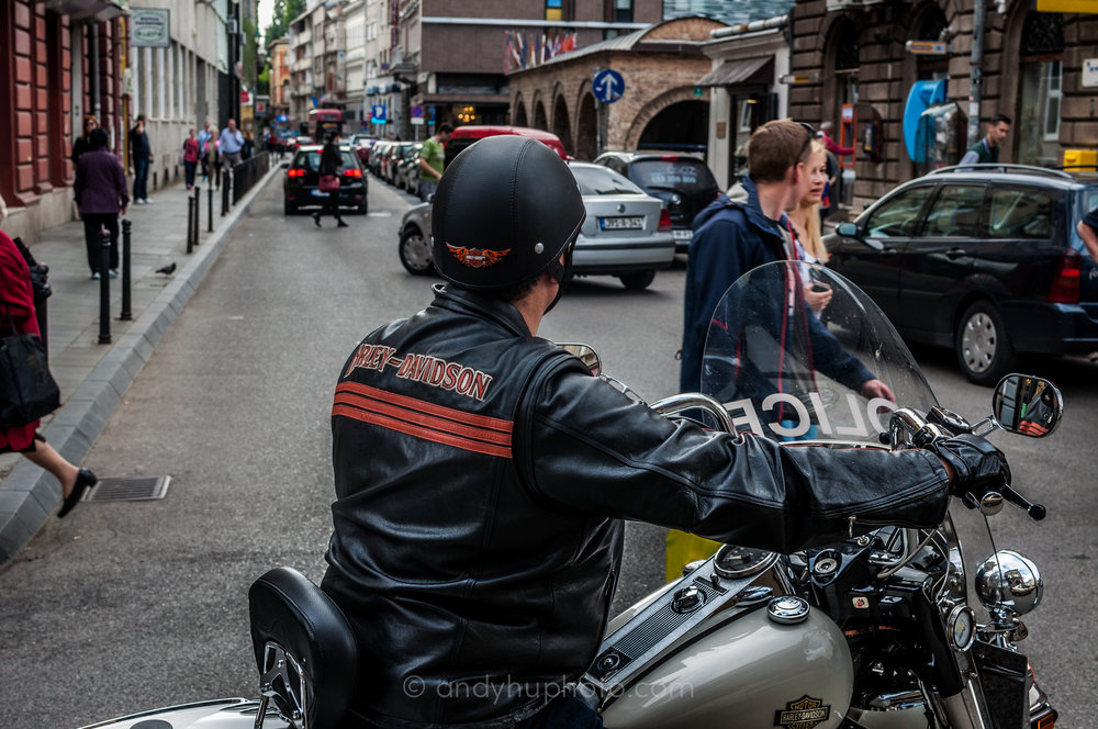 Harley-Davidson, the official sponsor of Sarajevo Police Department