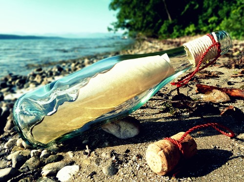 social-media-message-in-a-bottle-life-written