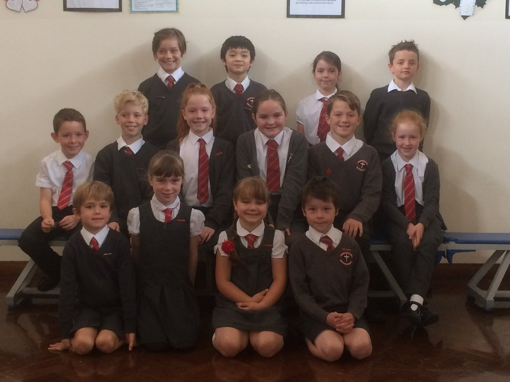 Last week our children from Years One-Five voted for their new School Councillors within their classes. The chosen children are: Y1 - Ollie Mc and Wiktoria G;  Y2 - Samuel W and Maeve D; Y3 - Miller J and Evelyn B; Y4 - Eddie C and Sophie D; Y5 - Ian F and Alice Y.  On Friday afternoon, eleven members of Y6 gave excellent presentations to the whole school stating why they would make good leaders within our school. Y6 and the staff voted and the following children have been duly appointed today: Head Boy - Frankie C                      Head Girl - Hattie S Deputy Head Boy - Blaise W-E       Deputy Head Girl - Kate C Mrs Hogan and Mrs Lees will be guiding the Council this year. The children's first public appointment will be to represent our school at the Bishop Wheeler Trust's Annual Mass in St Anne's Cathedral next week. Bishop Marcus is celebrating the Mass and children from each of the ten schools will be forming a special choir.