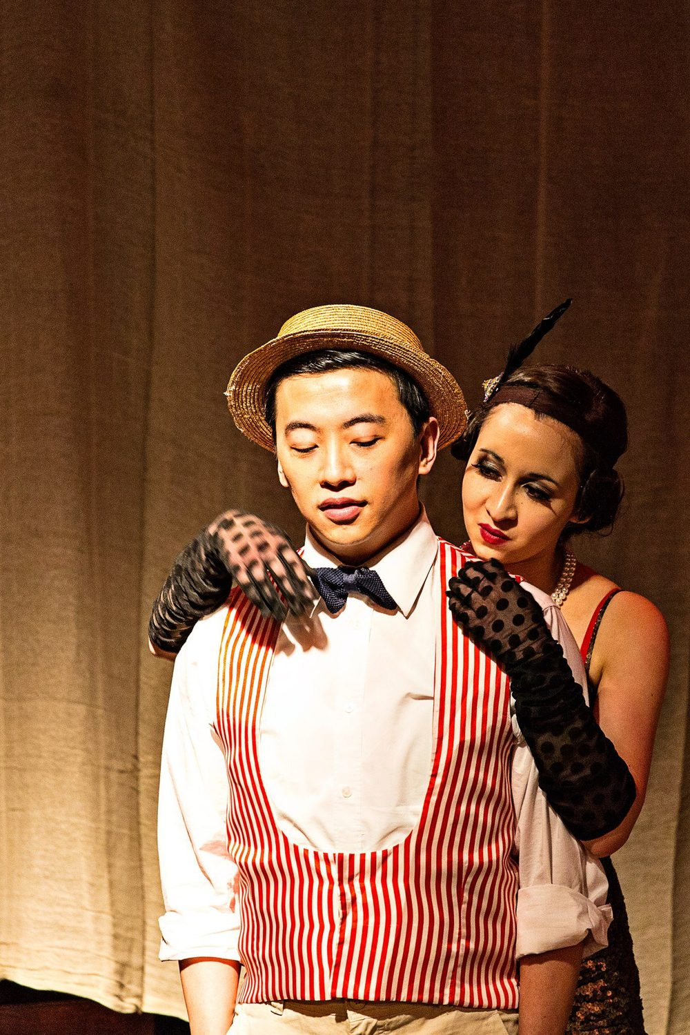 Jenny Smith - Kurt Weill's 'Rise and Fall of the City of Mahagonny'. With Wei-Hsi Hu. King's Opera, March 2013. Photograph © KCL Photo Society.