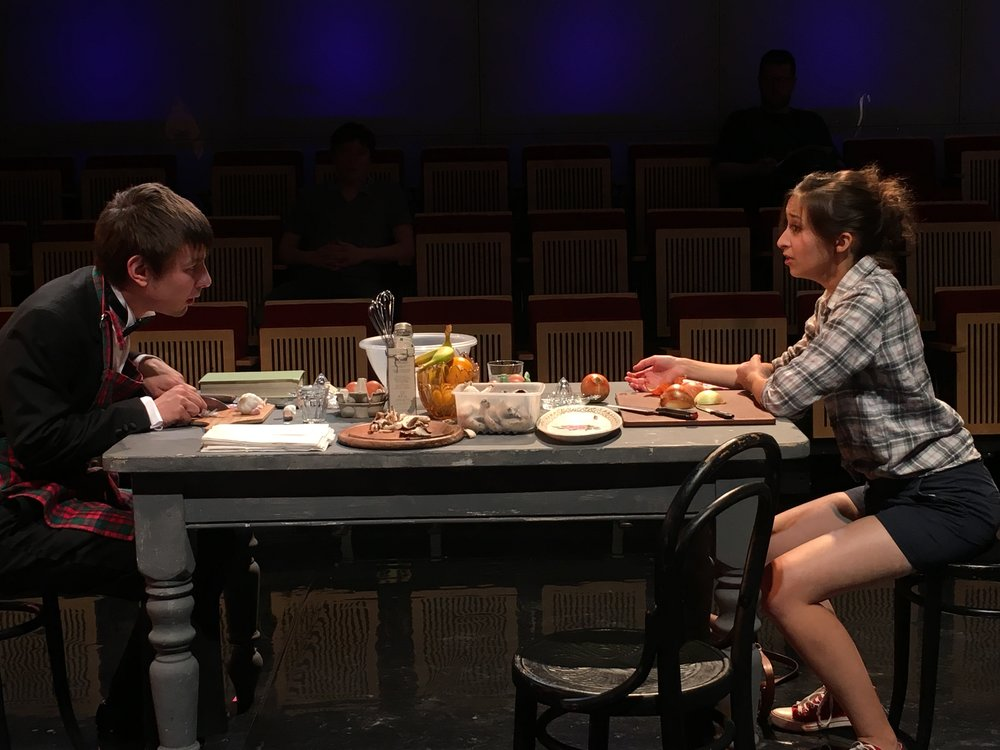 A Dinner Engagement, GSMD summer scenes 2017  with Laurence Williams  directed by Victoria Newlyn