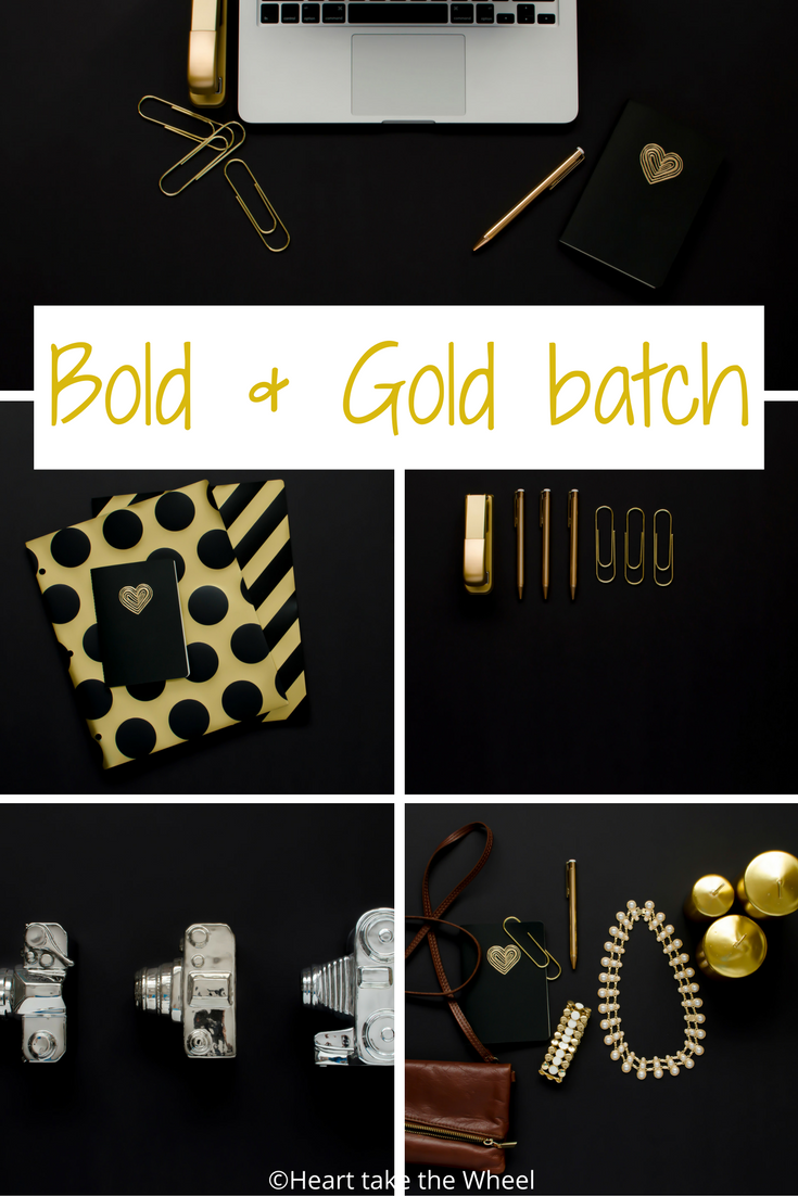 BOLD & GOLD Styled Stock Photo Batch from Heart take the Wheel . com