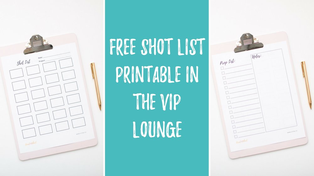 Free Shot List Printable - Heart take the Wheel Stock photography