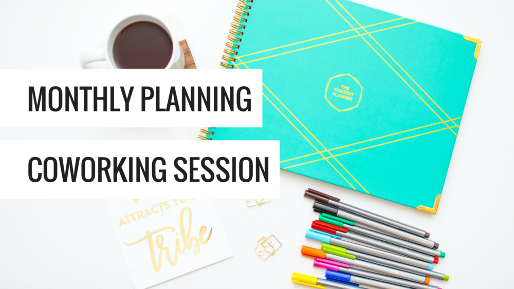 Monthly Planning - Coworking Session