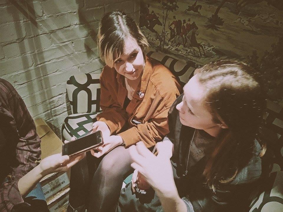 Hannah Evans and Ellie Green