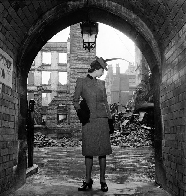 Vogue Model in bomb-damaged London