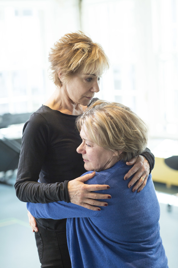 In rehearsal with Zoë Wanamaker and Barbara Flynn. Photograph: Helen Maybanks.