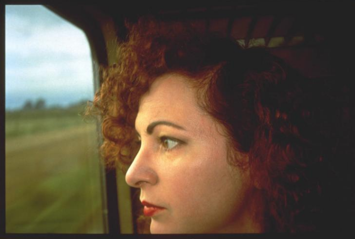 Self-Portrait on the train, Germany, 1992, © Nan Goldin, Tate Collection.