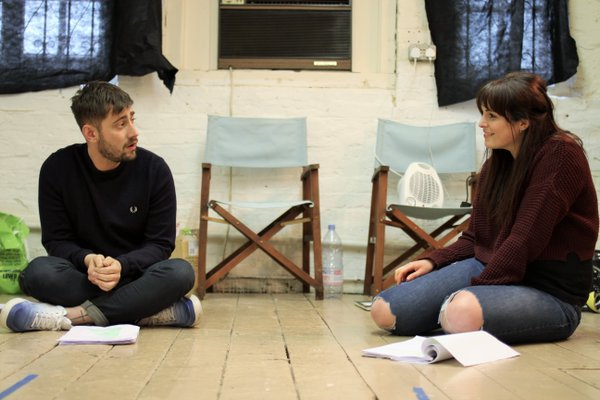 Michael Socha and Tamla Kari - Rehearsing 'This Is Living', 2016.