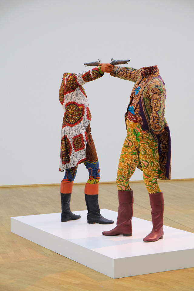 Yinka Shonibare, MBE:  How To Blow Up Two Heads At Once (Gentlemen)  – image Axel Schneider © MMK Frankfurt