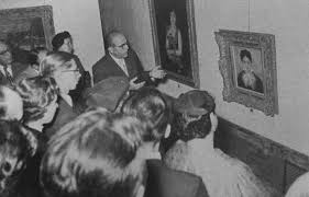 Hildebrand Gurlitt guides a tour through the Sao Paulo exhibition in 1954.