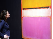 Rothko's 'White Centre', with the price tag of $72m.