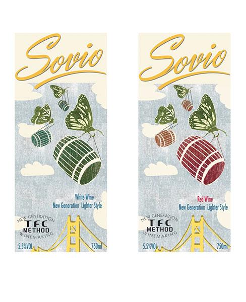 Wine Label Design - Sovio California